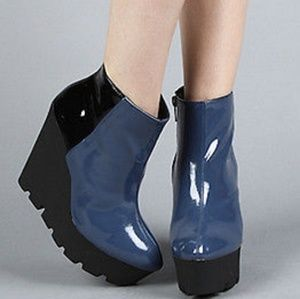 CHEAP MONDAY CUTE WEDGE ANKLE BOOTS